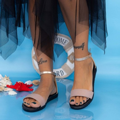 Sandale Dama PT8 Champagne Mei