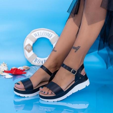 Sandale Dama cu Platforma FS37 Negru Mei