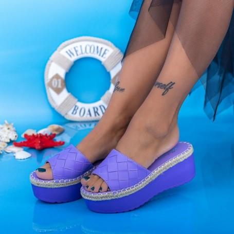 Papuci Dama cu Platforma KMD5 Mov Mei