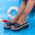 Papuci Dama cu Platforma KMD5 Negru (N20) Mei