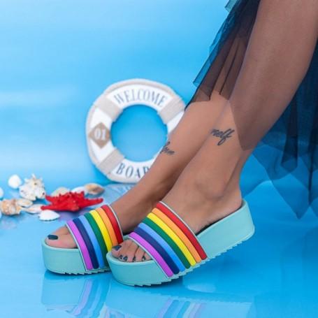 Papuci Dama cu Platforma X1 Mint Mei
