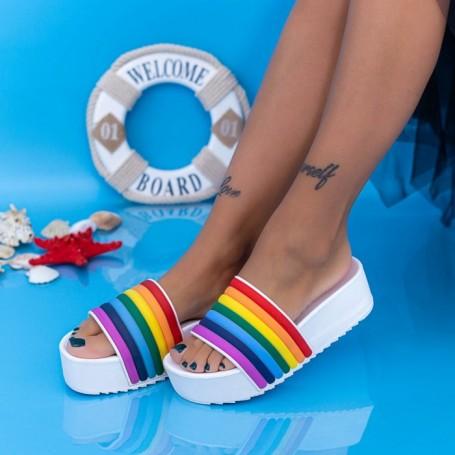 Papuci Dama cu Platforma X1 Alb Mei