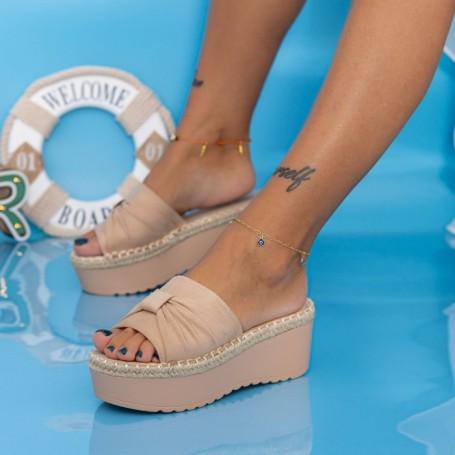 Papuci Dama cu Platforma KMD3 Piersica Mei