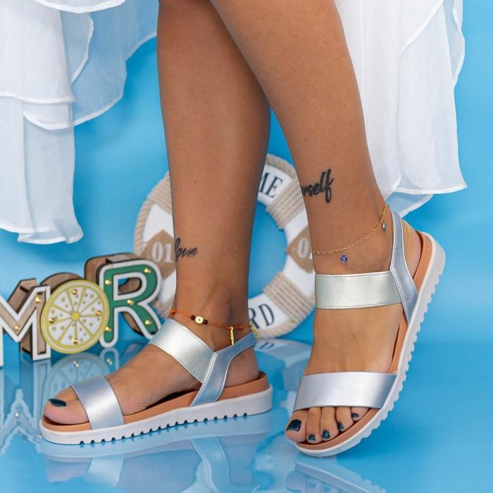 Sandale Dama PT3 Argintiu Mei