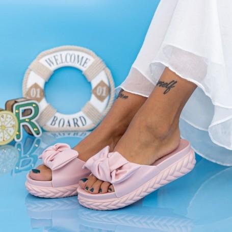 Papuci Dama cu Platforma WS191 Roz Mei