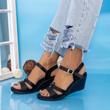 Sandale Dama cu Platforma GH1928 Negru Mei