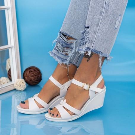 Sandale Dama cu Platforma GH1928 Alb Mei