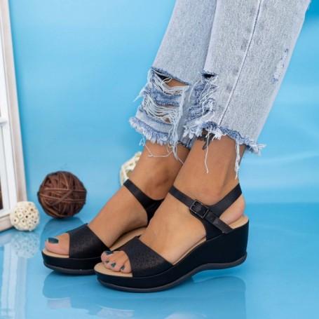 Sandale Dama cu Platforma GH1933 Negru Mei