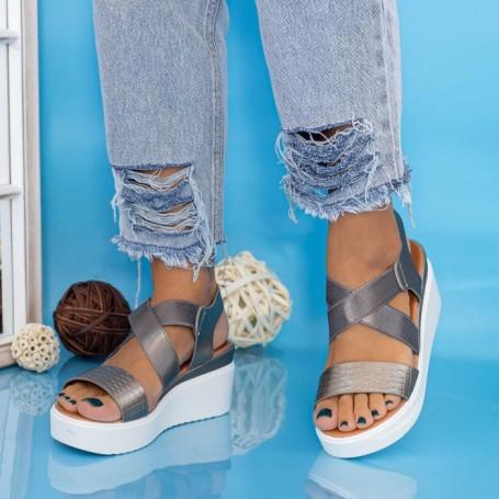 Sandale Dama cu Platforma PT12 Guncolor Mei