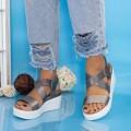 Sandale Dama cu Platforma PT12 Guncolor (P03) Mei