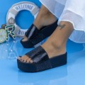 Papuci Dama cu Platforma X3 Negru (P16) Mei