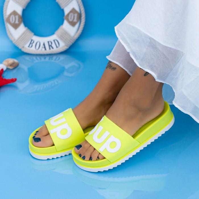 Papuci Dama X6 Galben fluorescent Mei