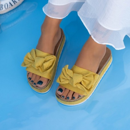 Papuci Dama X10 Galben Mei