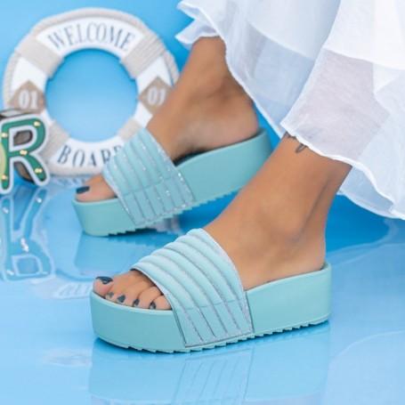 Papuci Dama cu Platforma X11 Mint Mei
