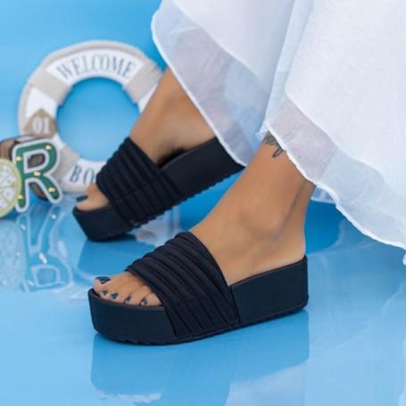 Papuci Dama cu Platforma X11 Negru Mei