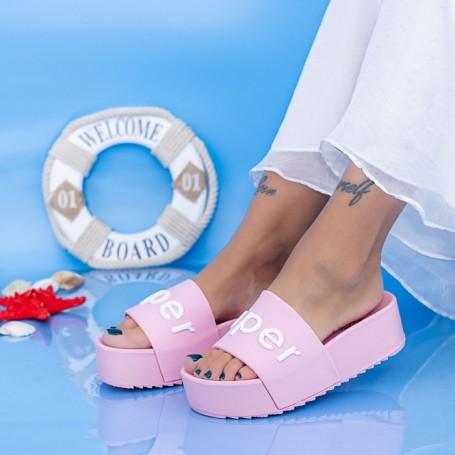 Papuci Dama cu Platforma X2 Roz Mei