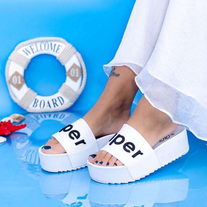 Papuci Dama cu Platforma X2 Alb Mei