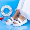 Papuci Dama cu Platforma X2 Alb (P14) Mei