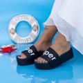 Papuci Dama cu Platforma X2 Negru (P14) Mei