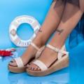 Sandale Dama cu Platforma PT17 Bej (N21) Mei