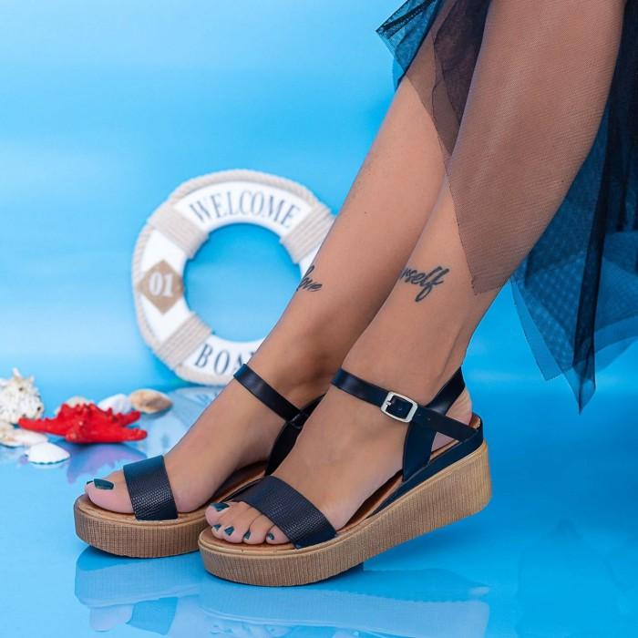 Sandale Dama cu Platforma PT17 Negru Mei