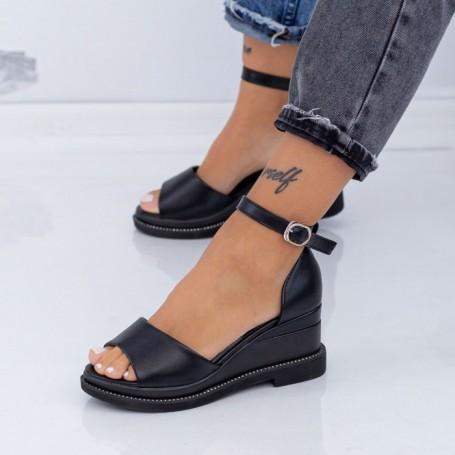 Sandale Dama cu Platforma WEN1 Negru Mei
