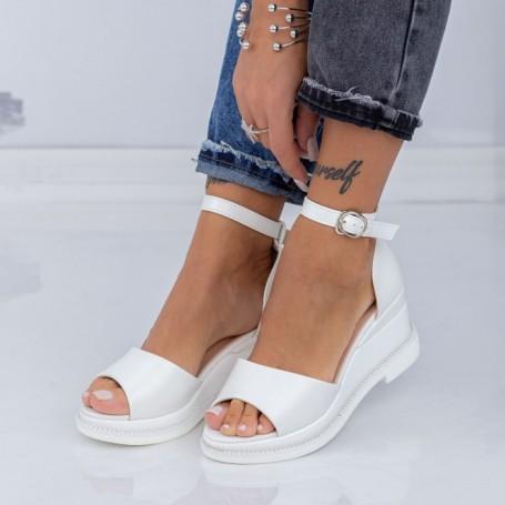 Sandale Dama cu Platforma WEN1 Alb Mei