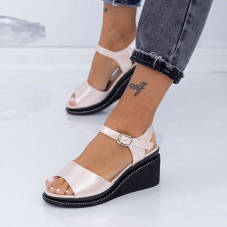 Sandale Dama cu Platforma WEN3 Champagne Mei