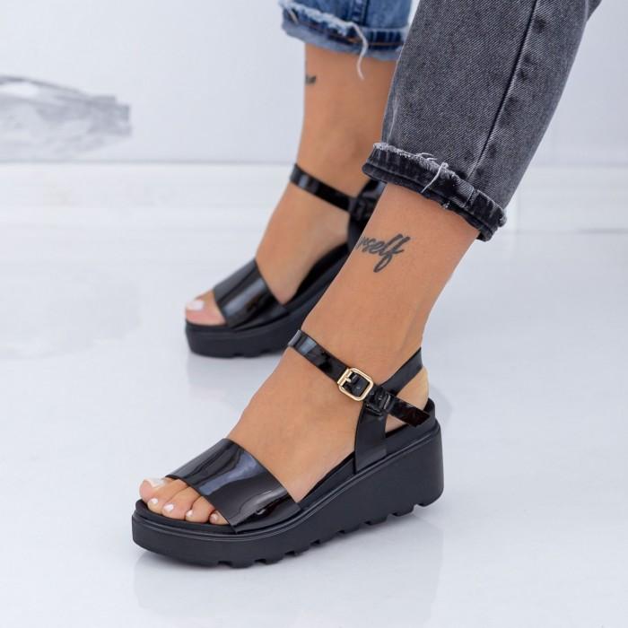 Sandale Dama cu Platforma LM299 Negru Mei