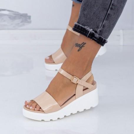 Sandale Dama cu Platforma LM299 Nude Mei