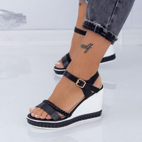 Sandale Dama cu Platforma LM323 Negru Mei