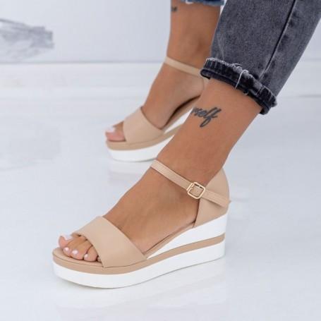 Sandale Dama cu Platforma LM327 Bej Mei