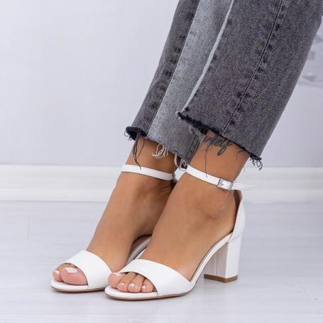 Sandale Dama cu Toc gros XD251R White (L83) Mei