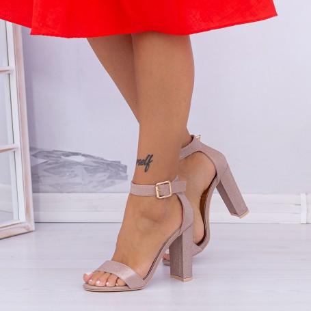 Sandale Dama cu Toc gros XKK236A Champagne (---) Mei