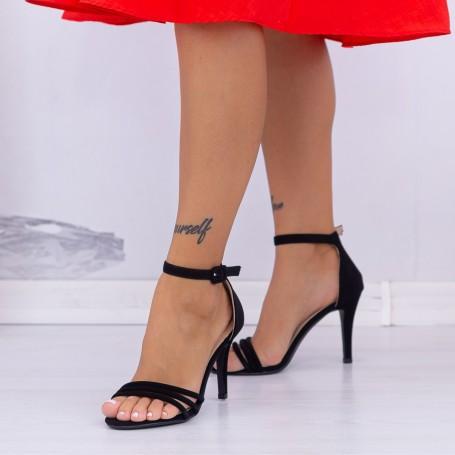 Sandale Dama cu Toc subtire YXD7 Black (---) Mei