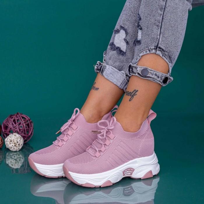 Pantofi Sport Dama cu Platforma KDN18 Roz Mei