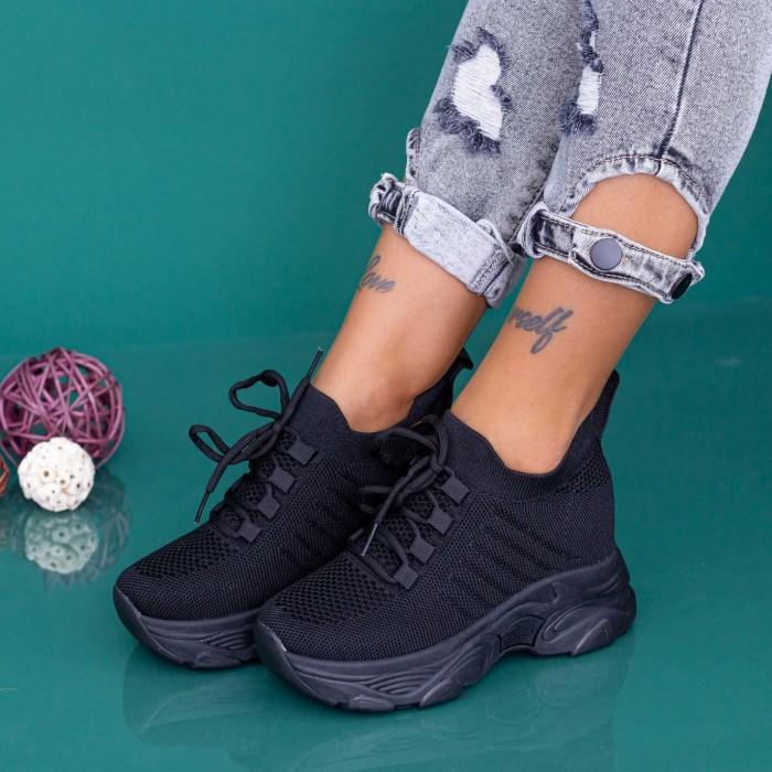 Pantofi Sport Dama cu Platforma KDN18A Negru Mei