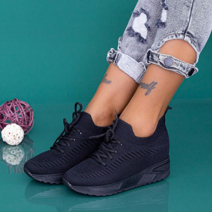 Pantofi Sport Dama cu Platforma KDN19 Negru Mei