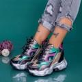 Pantofi Sport Dama cu Platforma WLGH67 Multicolor (B14) Mei