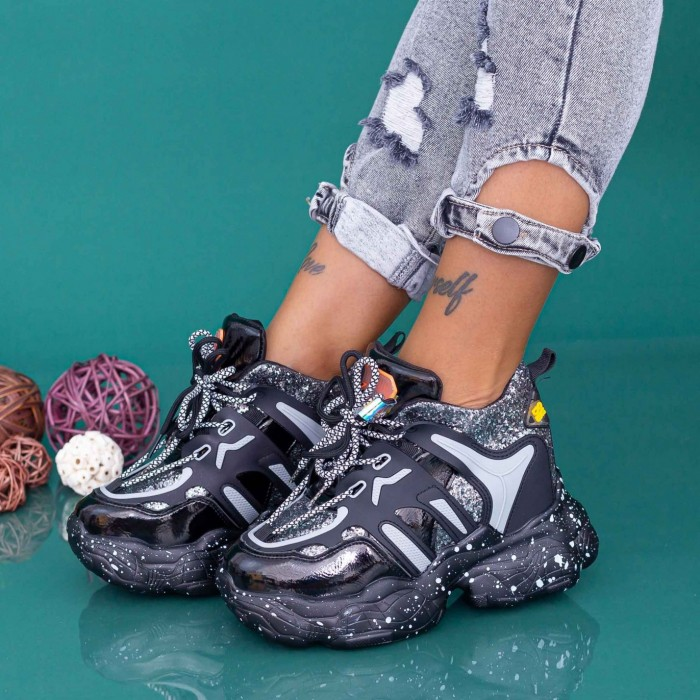 Pantofi Sport Dama cu Platforma WLGH72 Guncolor Mei