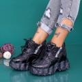 Pantofi Sport Dama cu Platforma WLGH73 Negru (A28) Mei