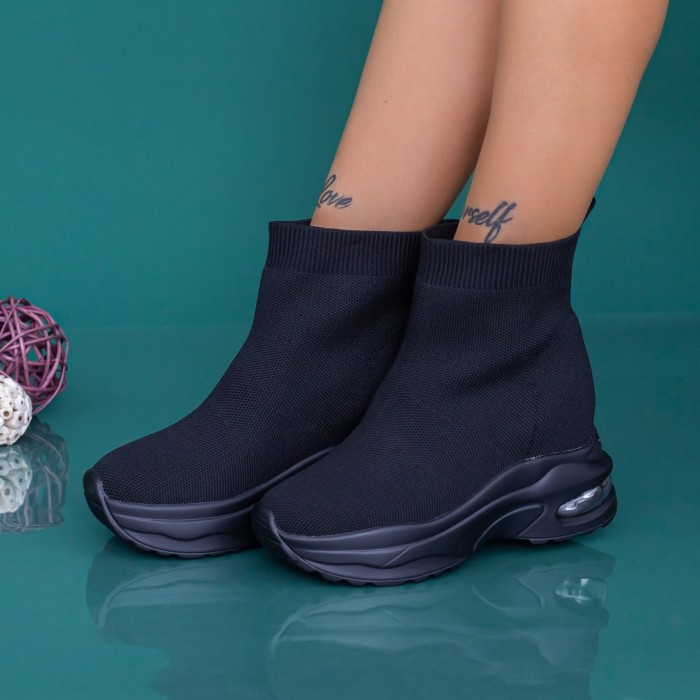 Pantofi Sport Dama cu Platforma MX302 Negru Mei