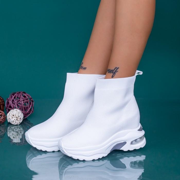 Pantofi Sport Dama cu Platforma MX302 Alb Mei